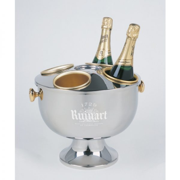 Dry Label Champagne Bowl branded Ruinart