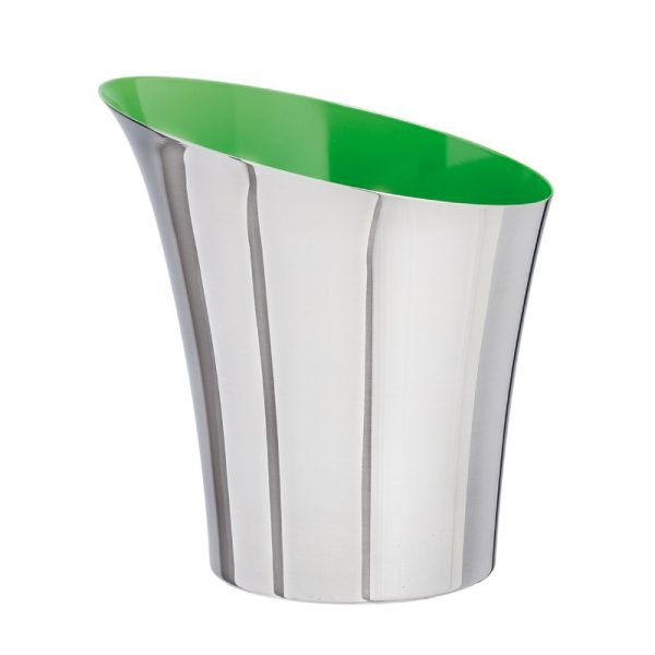 Flare Metal Ice Bucket Two Tone Green Inside
