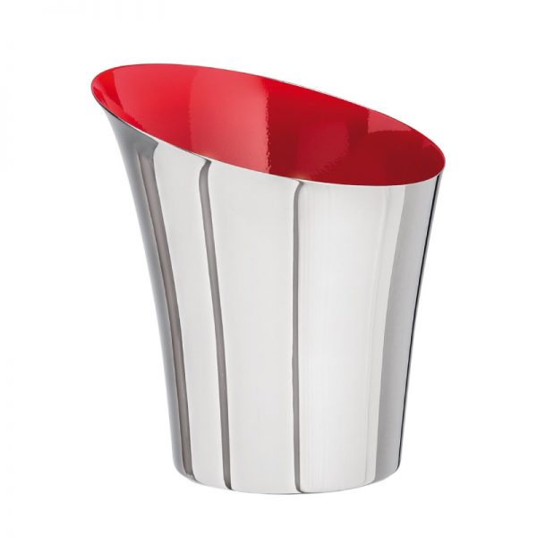 Flare Metal Wine Bucket with Red Inside Two Tone