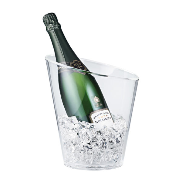 Slice Clear Acrylic Wine Bucket with Bottle