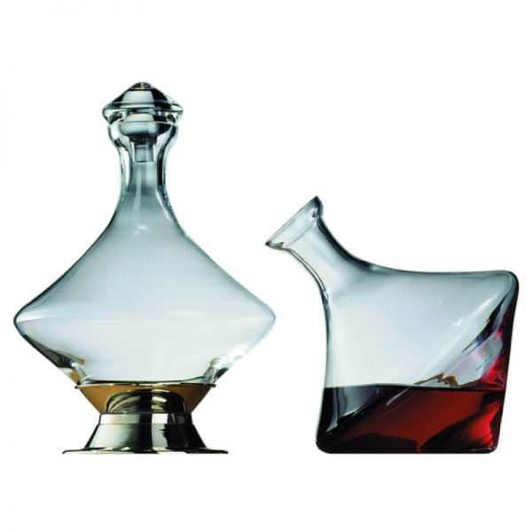 Diamond-Turn-Crystal-Glass-Decanter-with-Stand