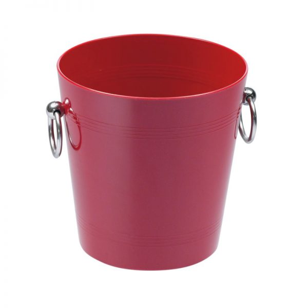 Small ice bucket Red printed