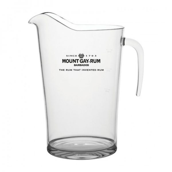 Printed Plastic Pitcher 'Mount Gay Rum'