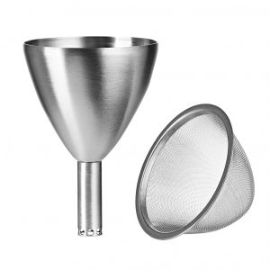 SuperOxy Wine Aerator Stainless Steel Funnel with Filter