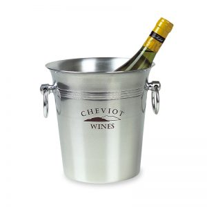 Printed Metal Wine Bucket - Cheviot logo