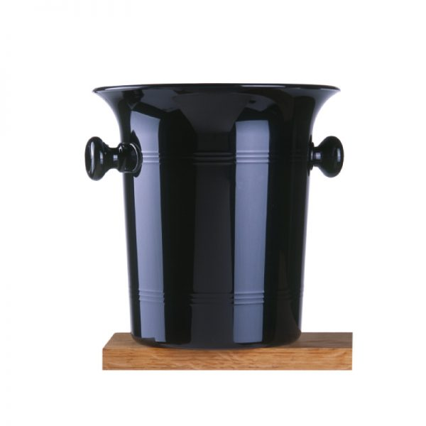 Standard Black Plastic Ice Bucket with Handles